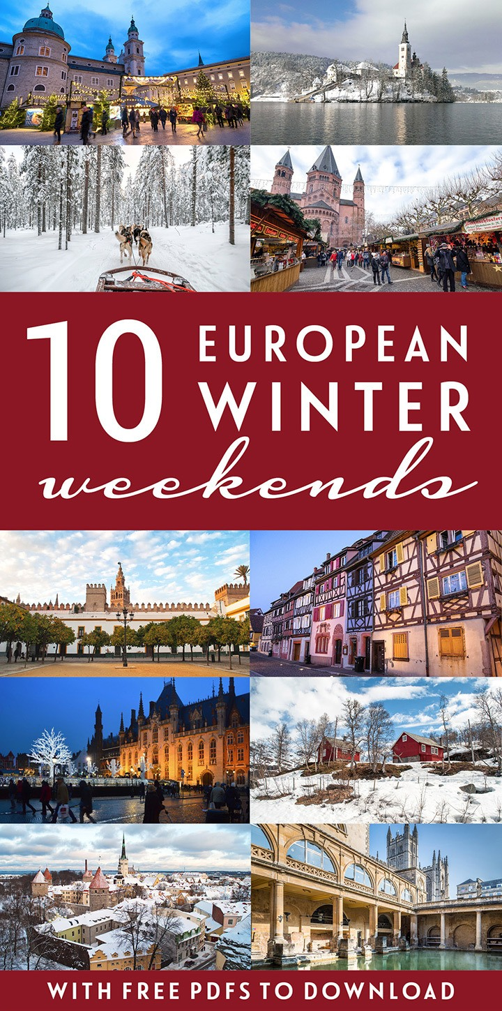 10 of the best tried-and-tested European winter weekend break ideas – with Christmas markets, fairytale medieval cities and snow-filled escapes. #weekend #winter #Christmas