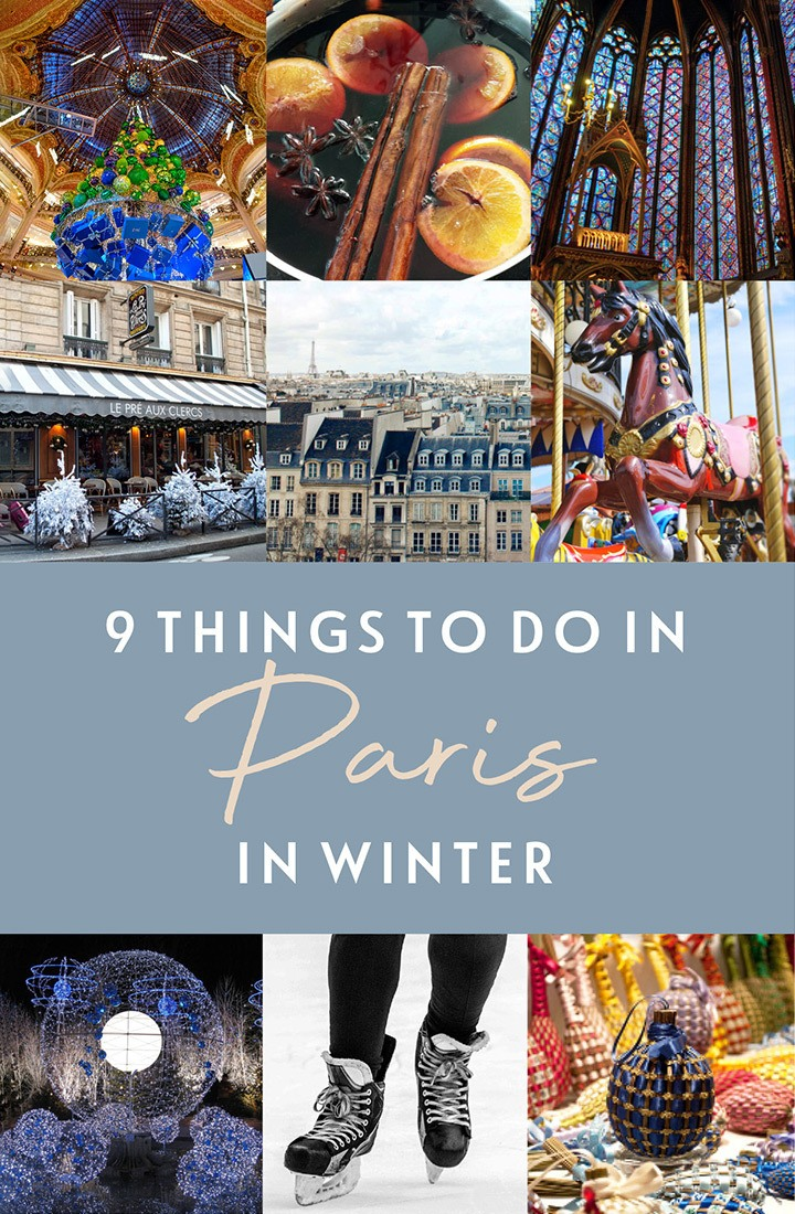 9 things to do in Paris in winter, the best of Paris at Christmas, including festive light displays, Christmas markets, ice skating, church concerts and funfair rides. #Paris #Christmas #winter