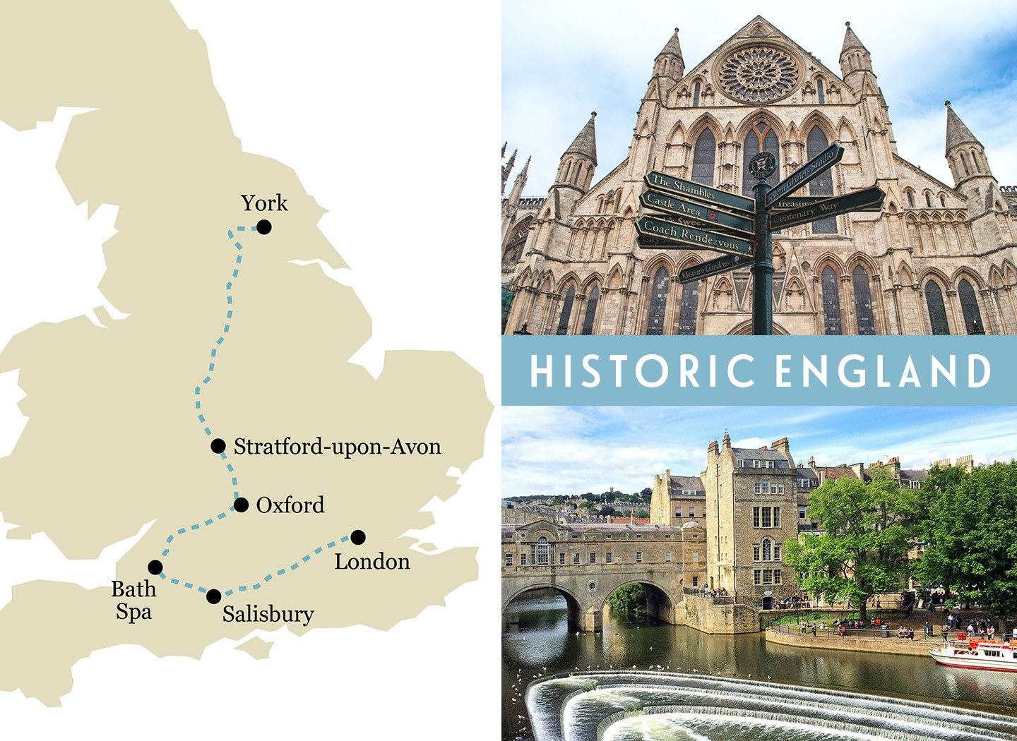 Britain by train: English history one-week rail trip route