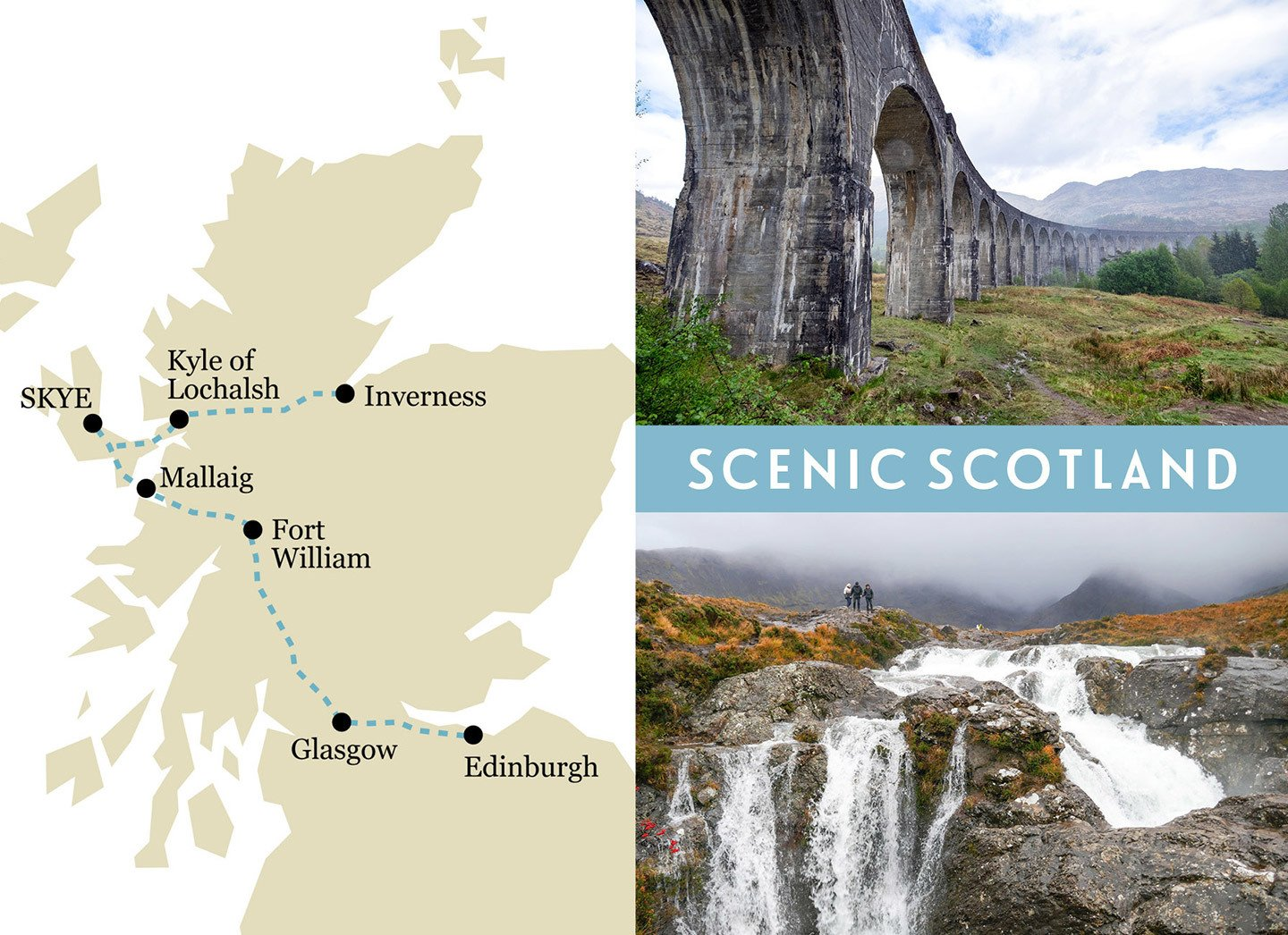 Britain by train: Scotland one-week rail trip route