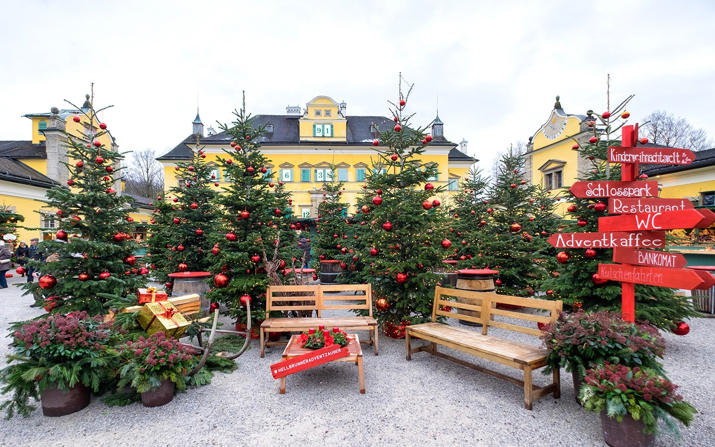 Hellbrunn Palace's Christmas markets in Salzburg