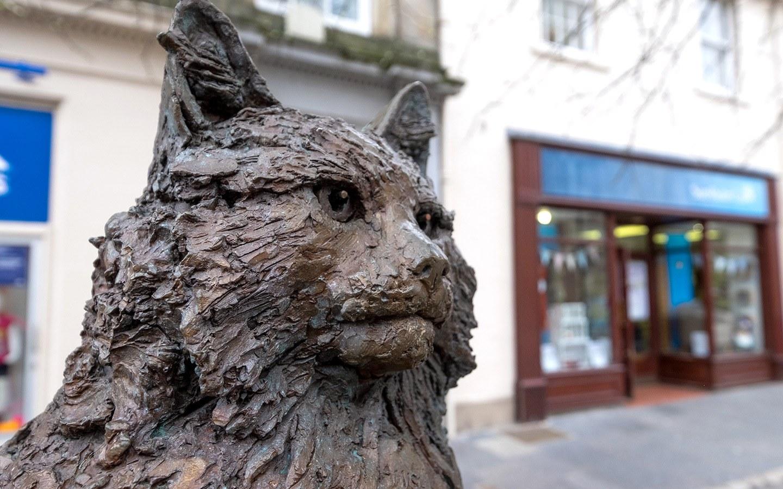 Hamish McHamish cat statue, St Andrews