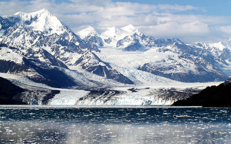 Alaska cruise through the fjords.