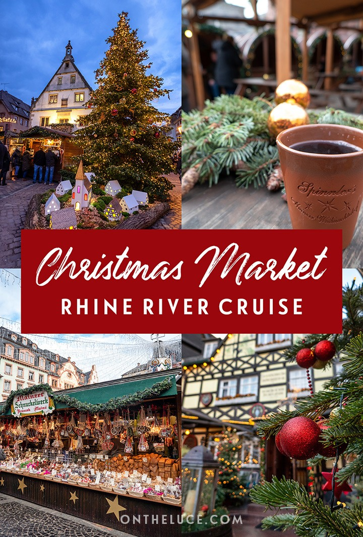 A festive four-night Christmas market river cruise on the Rhine river through Germany and France's Alsace region, visiting Rüdesheim, Mainz and Strasbourg. #Germany #Alsace #Christmas #Christmasmarket #Rhine #cruise #rivercruise