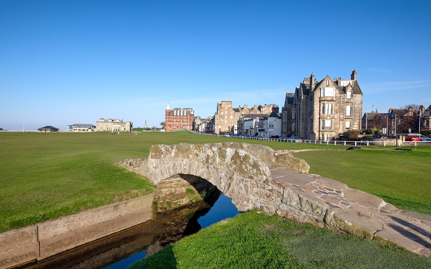 The Swilcan Bridge on the Old Course, St Andrews