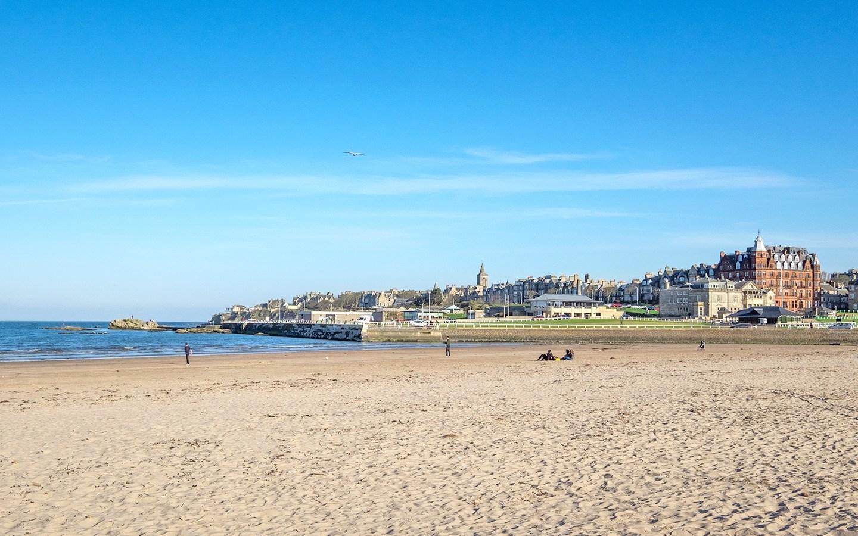 West Sands Beach in St Andrews, Scotland