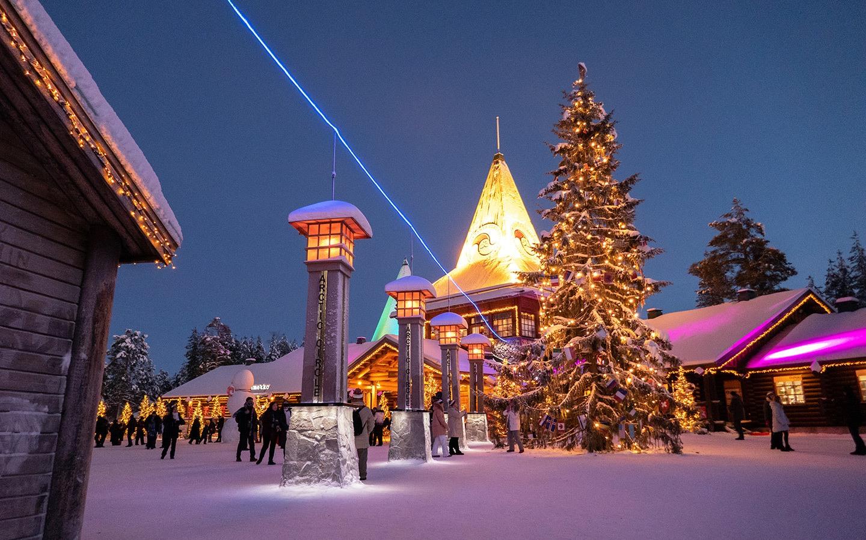 Santa Claus Village in Rovaniemi in winter