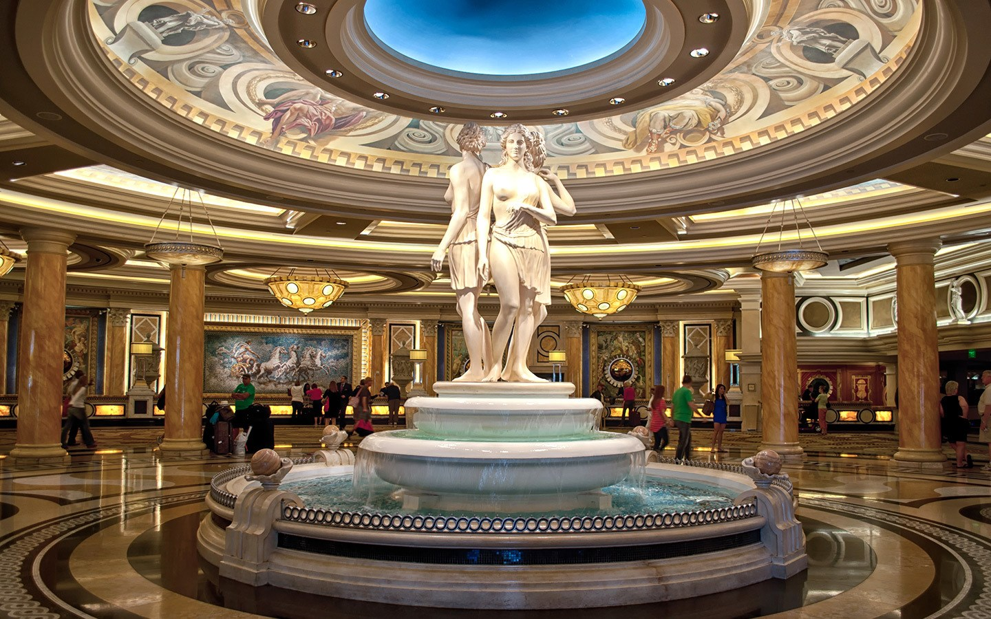 The lobby at Caesars Palace in Las Vegas