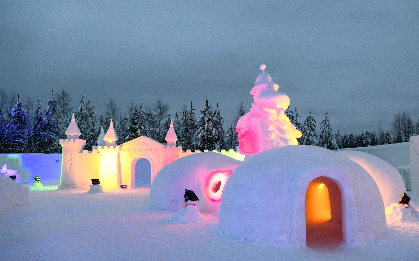 The Moomin Snow Castle in Santa Claus Village, Rovaniemi, Finland