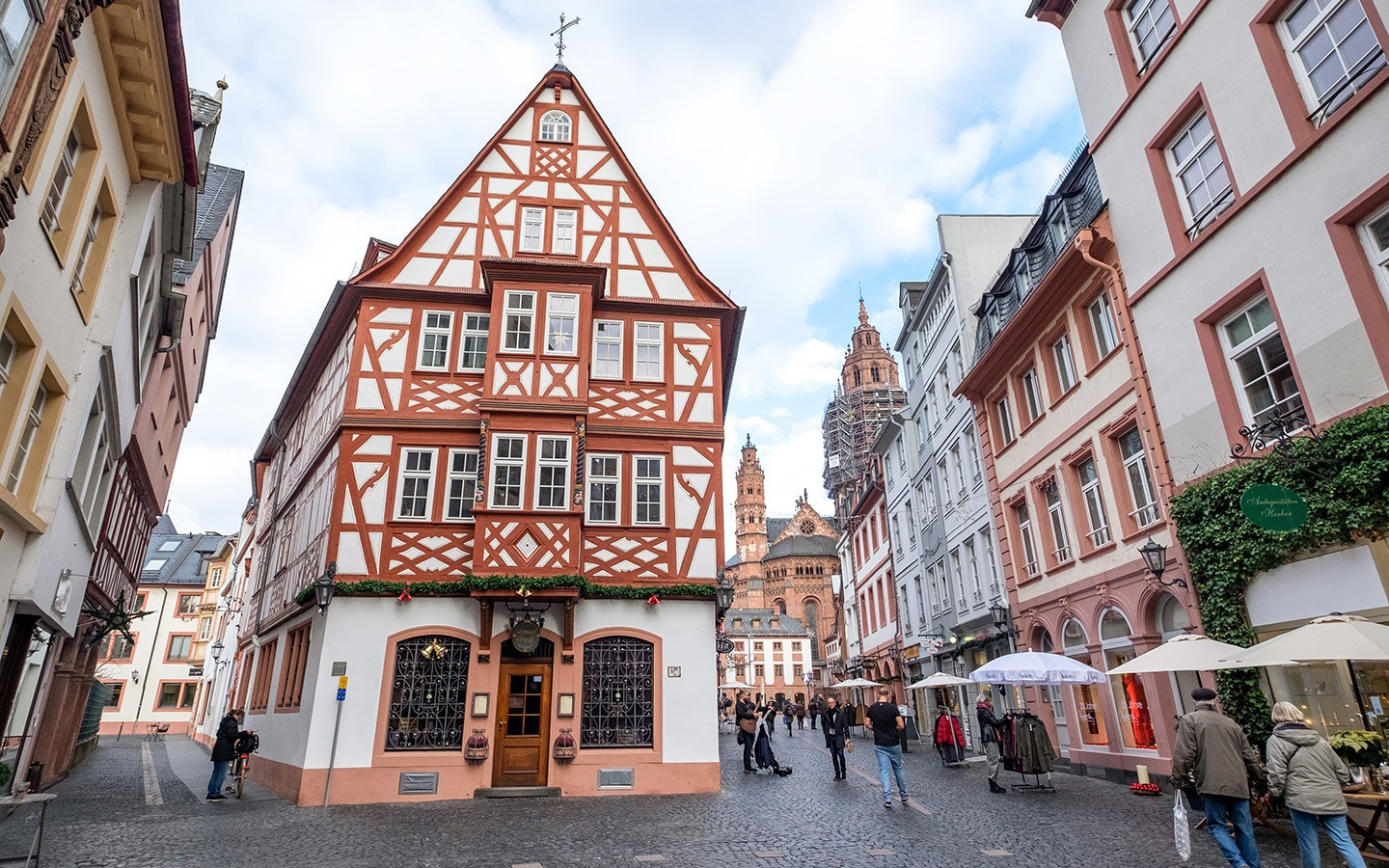 The historic centre of Mainz, Germany