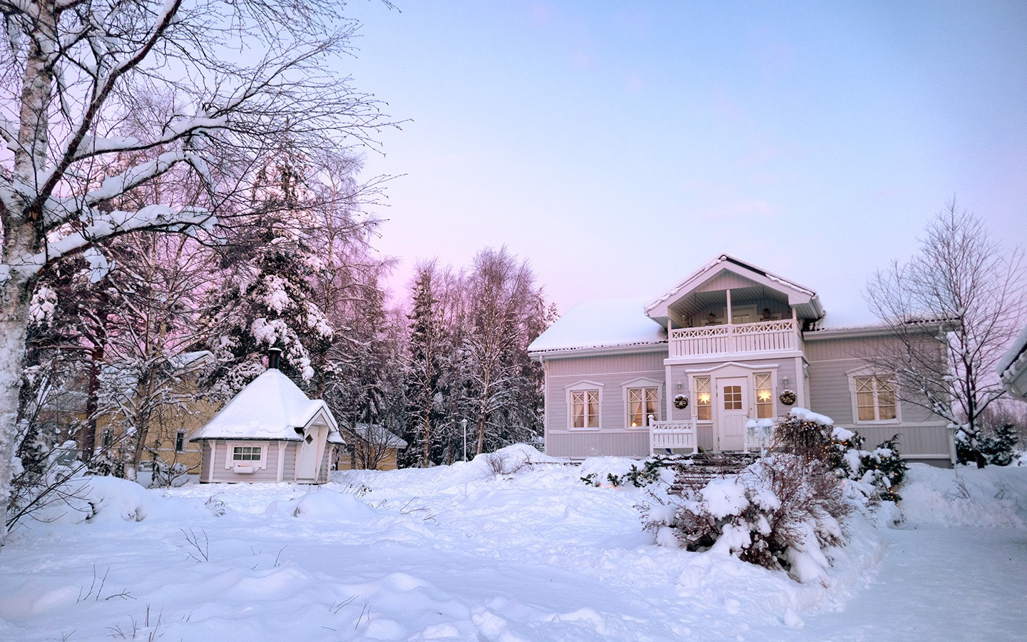 A more sustainable travel AirBnB rental house in Rovaniemi, Finland