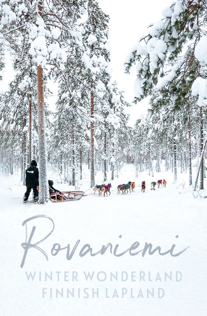 Everything you need to know for a trip to Rovaniemi, a snow-filled winter wonderland in Finnish Lapland, including Santa Claus Village, husky sleds, reindeer sleighs, ice sculpures and more #Lapland #Finland #Rovaniemi #winter #snow