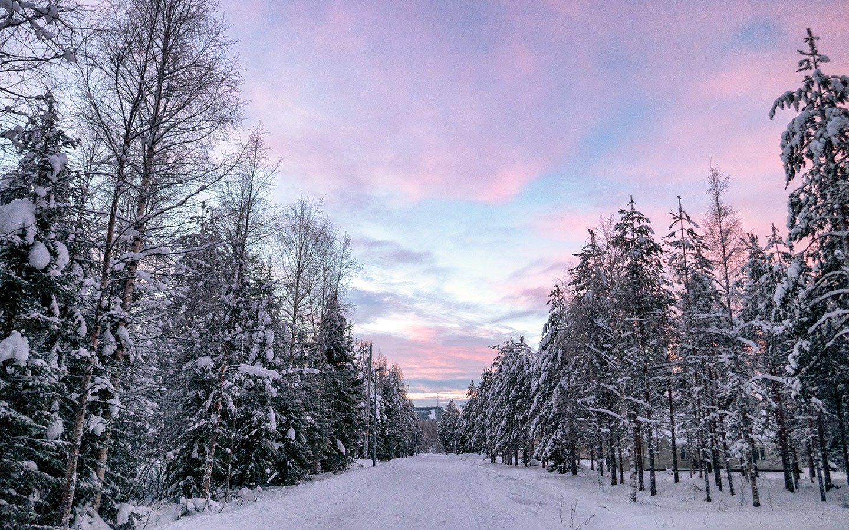 Sunrise in Rovaniemi, Finland