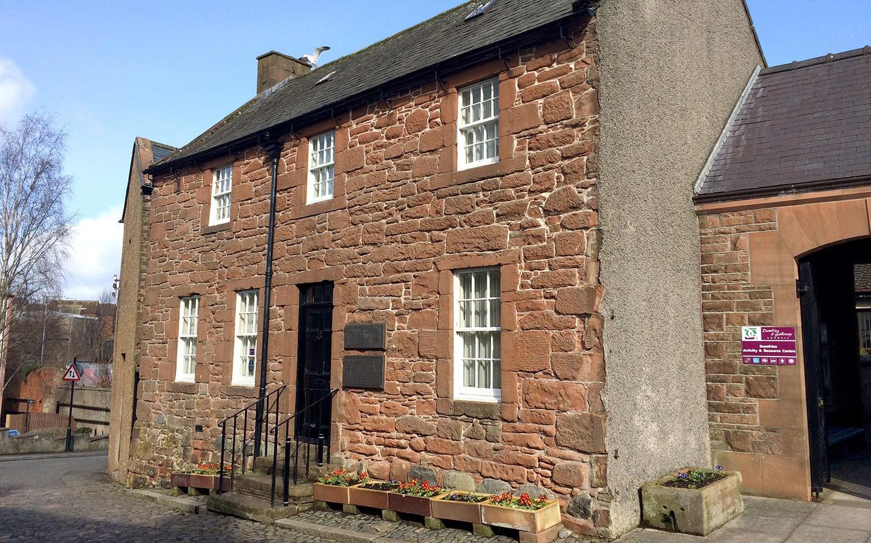 Robert Burns House in Dumfries, Scotland