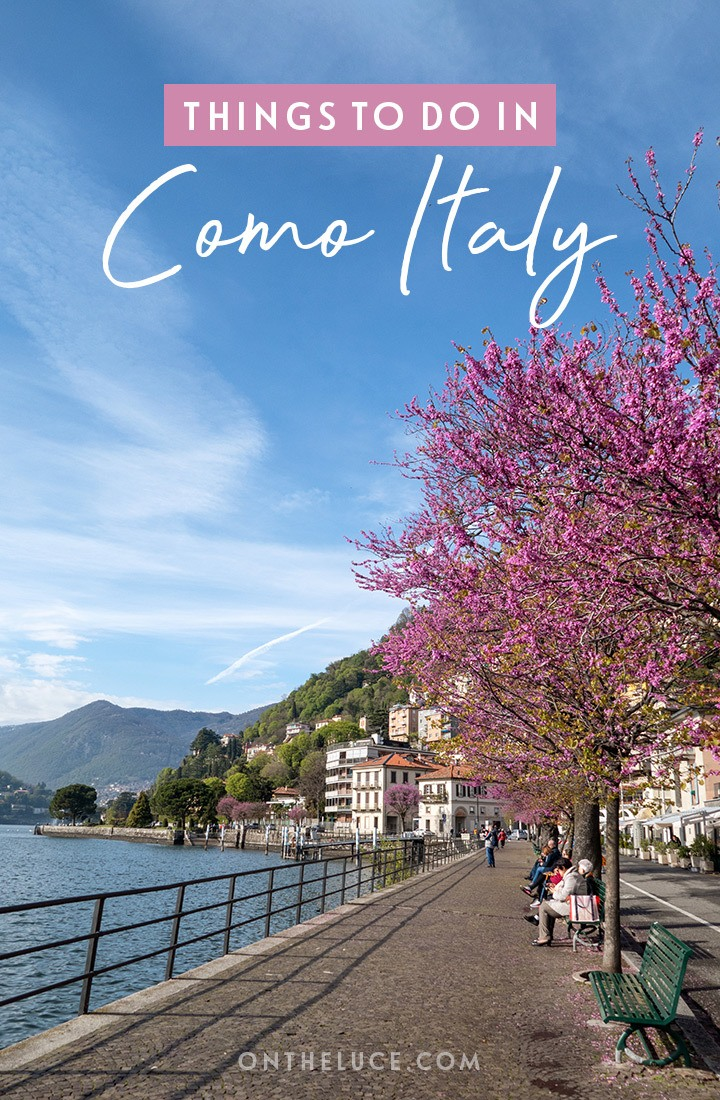 Exploring the Italian Lakes with the best things to do in Como, Italy, including the funicular to Brunate, boat trips on Lake Como and waterfront walks. #Como #LakeComo #Italy