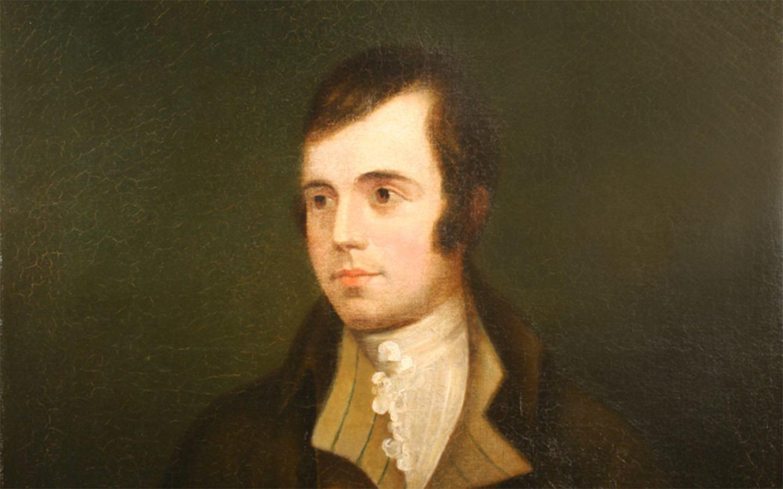 Oil painting of Robert Burns