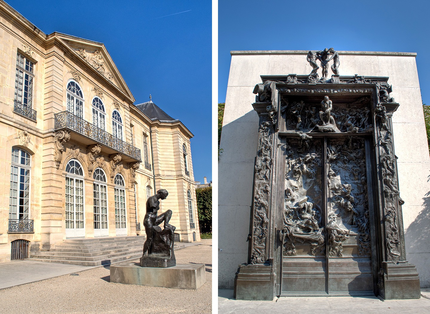 The Rodin Museum sculpture garden in Paris