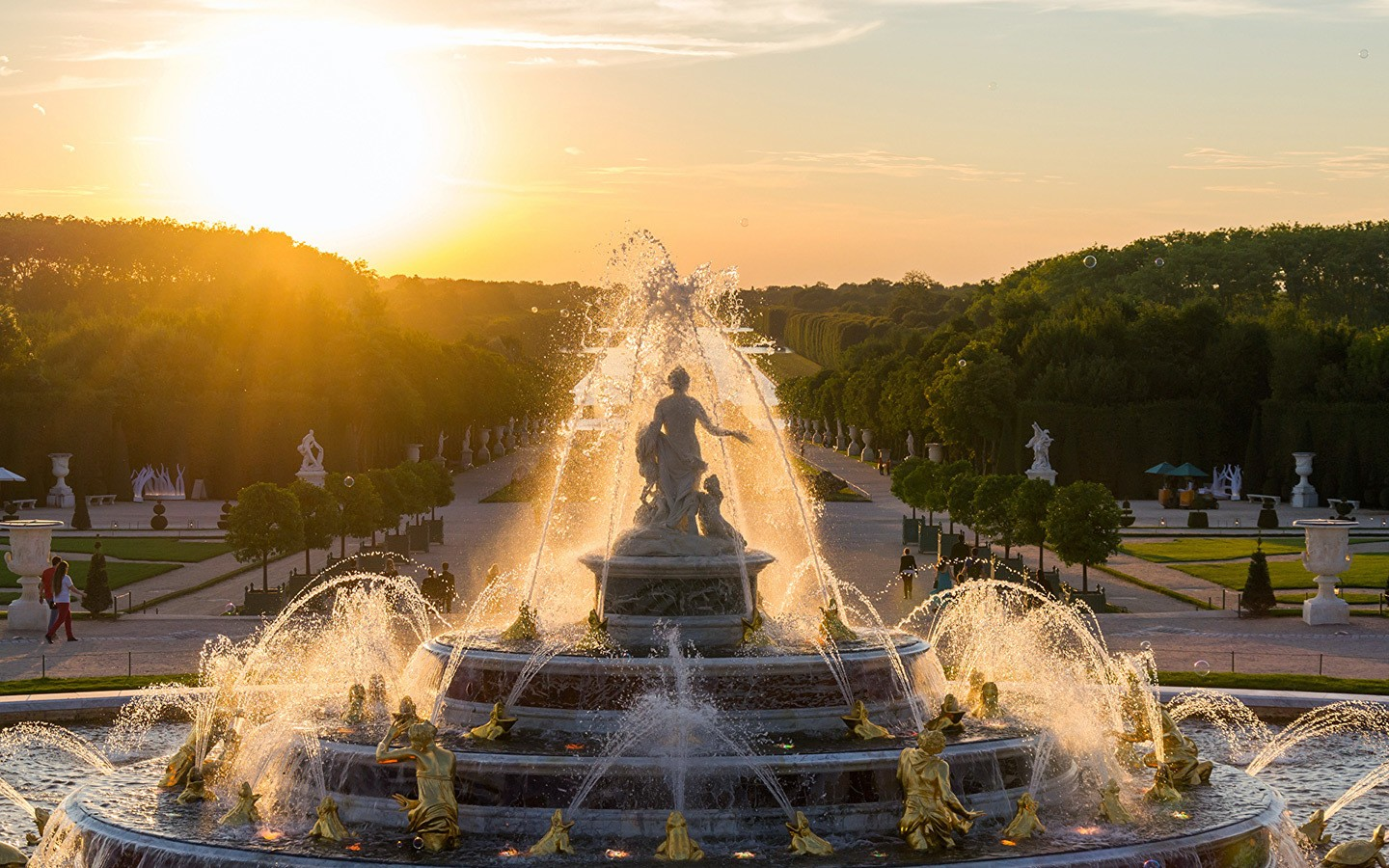 Fountains at the Palace of Versailles near Paris