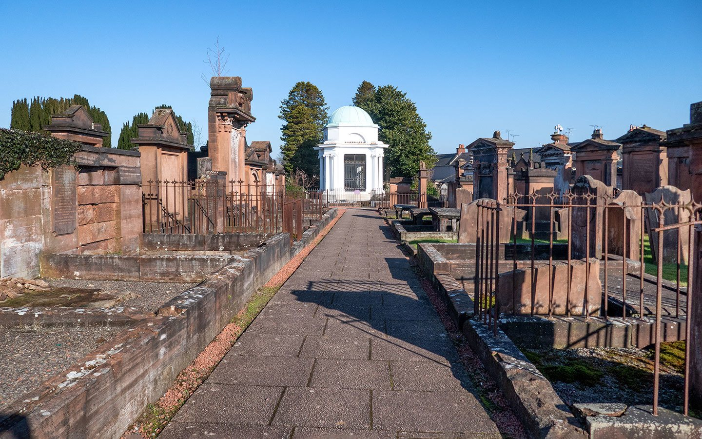 The graveyard at St Michael's and South Parish Church  in Dumfries