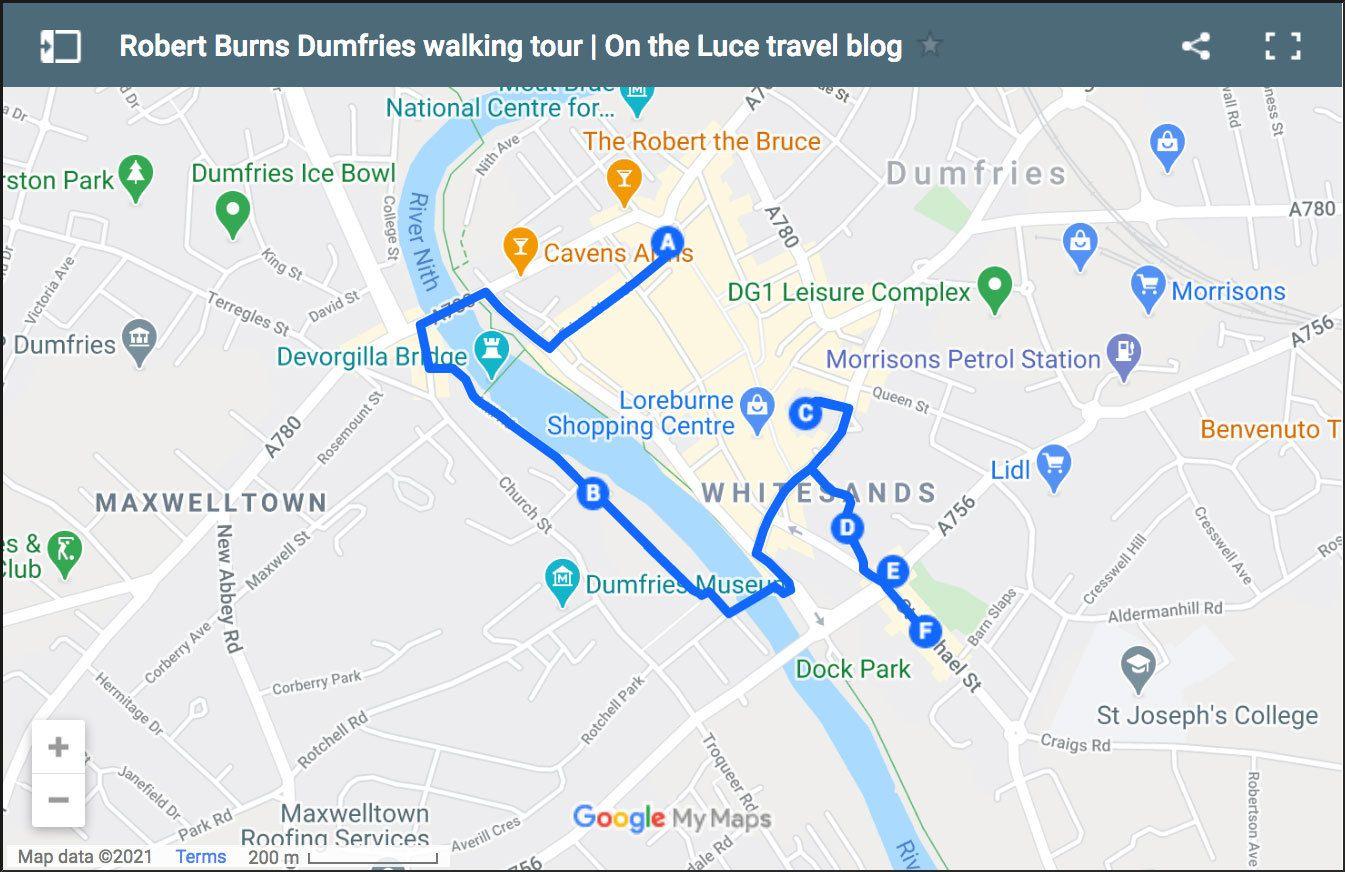 A Robert Burns walking tour of Dumfries
