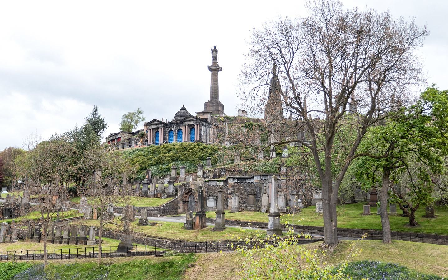 Glasgow's Victorian Necropolis on a hillside