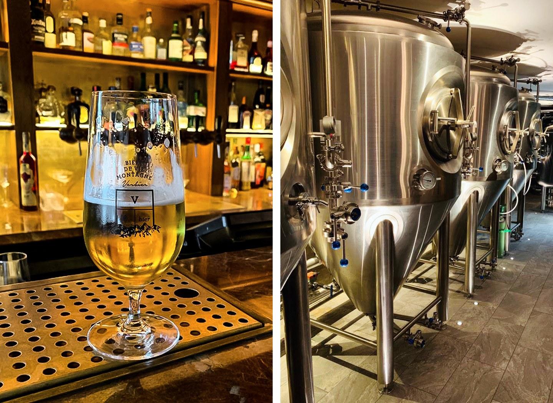 Beer making and tasting at V Bier brewery in Verbier
