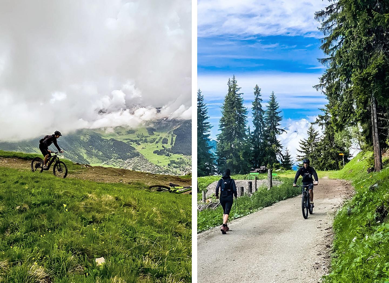 E-Biking in the mountains