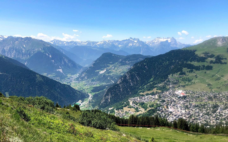 Summer in Verbier in the Swiss Alps