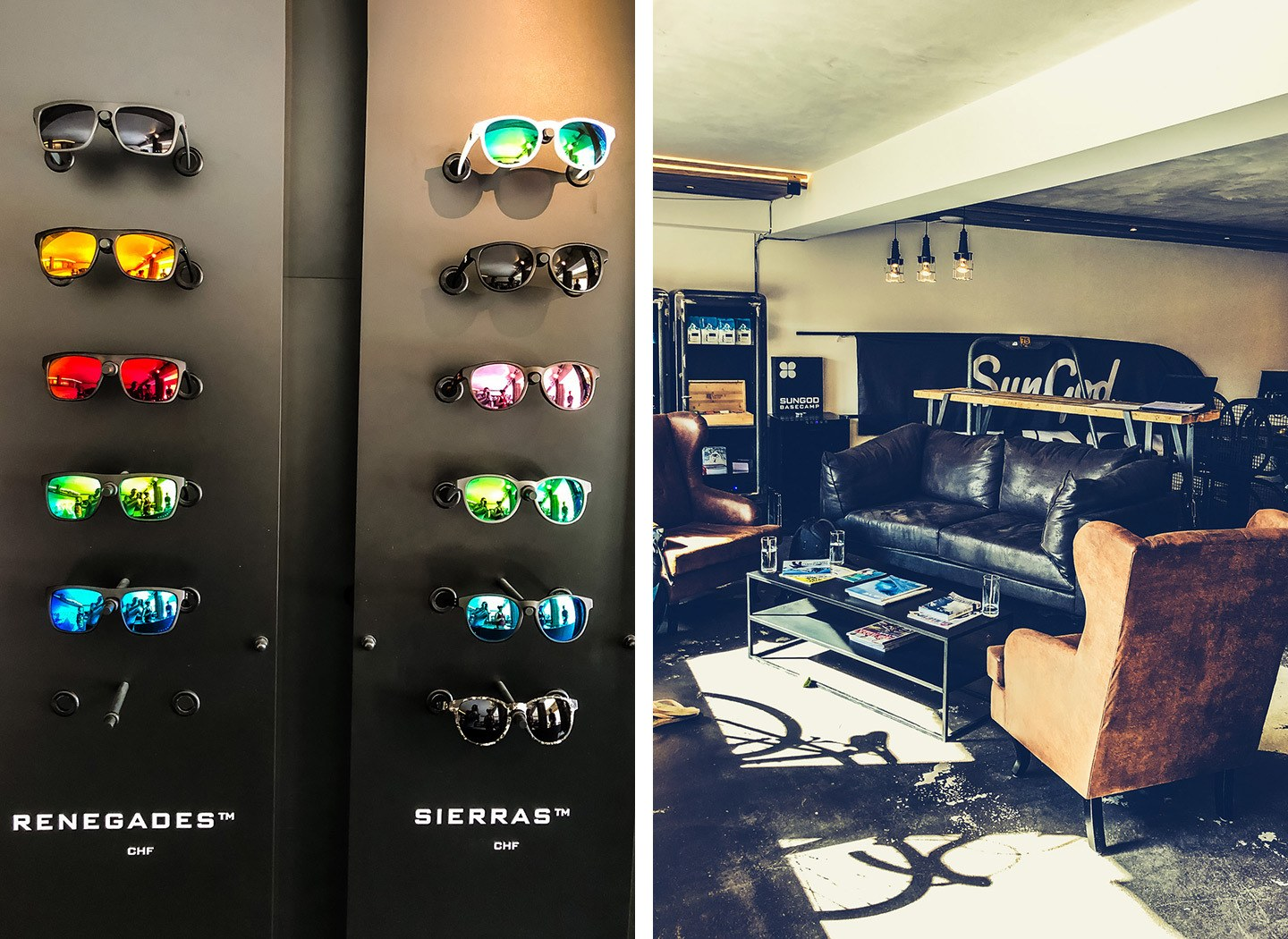 Custom made sunglasses at SunGod in Verbier