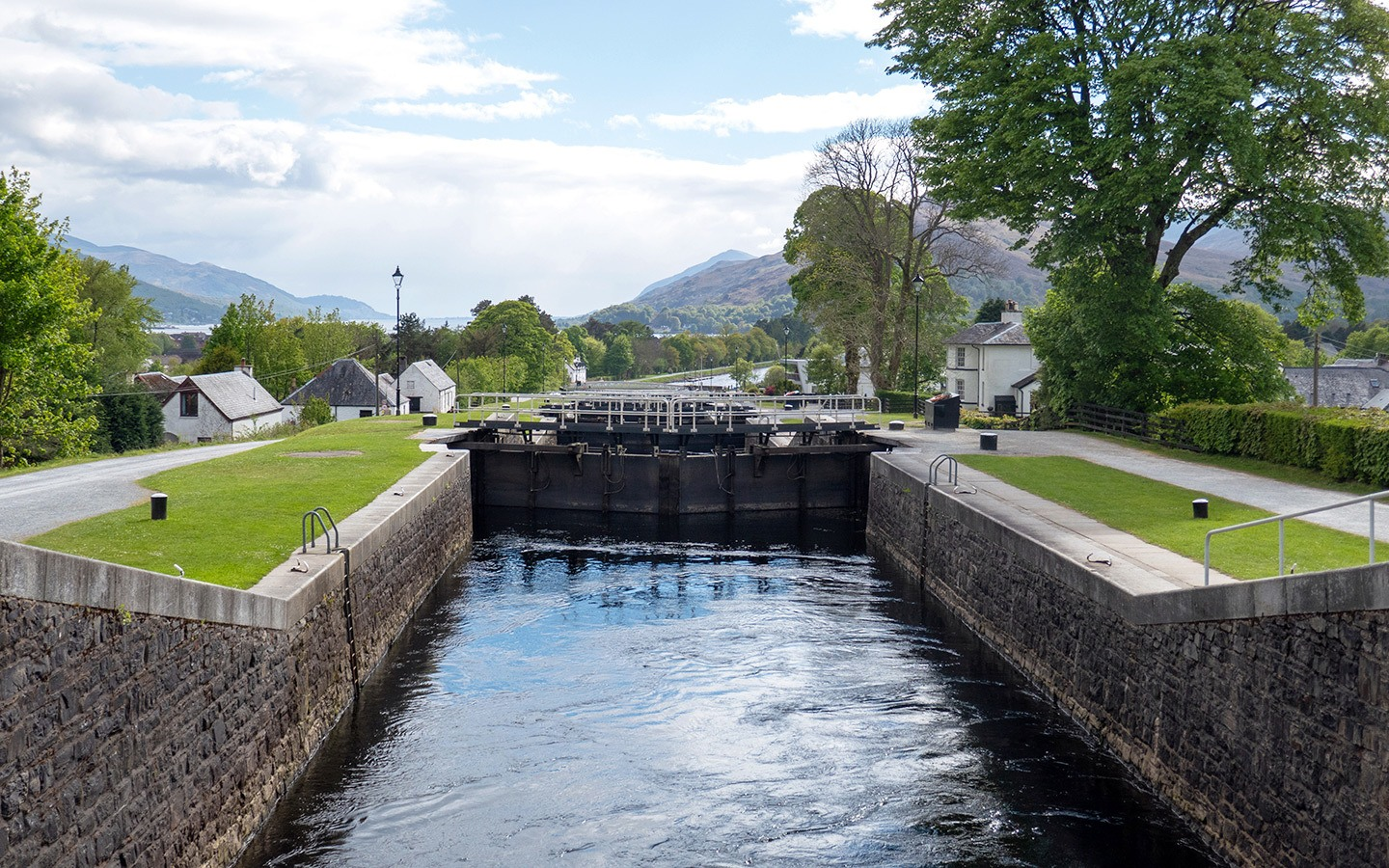 Neptune's Staircase canal locks near Fort William in Scotland