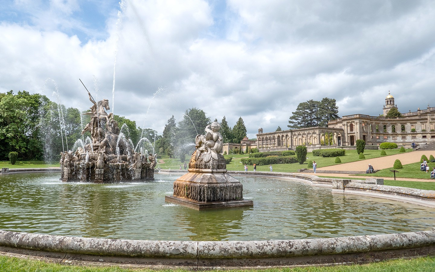Witley Court ruined country house in Worcestershire
