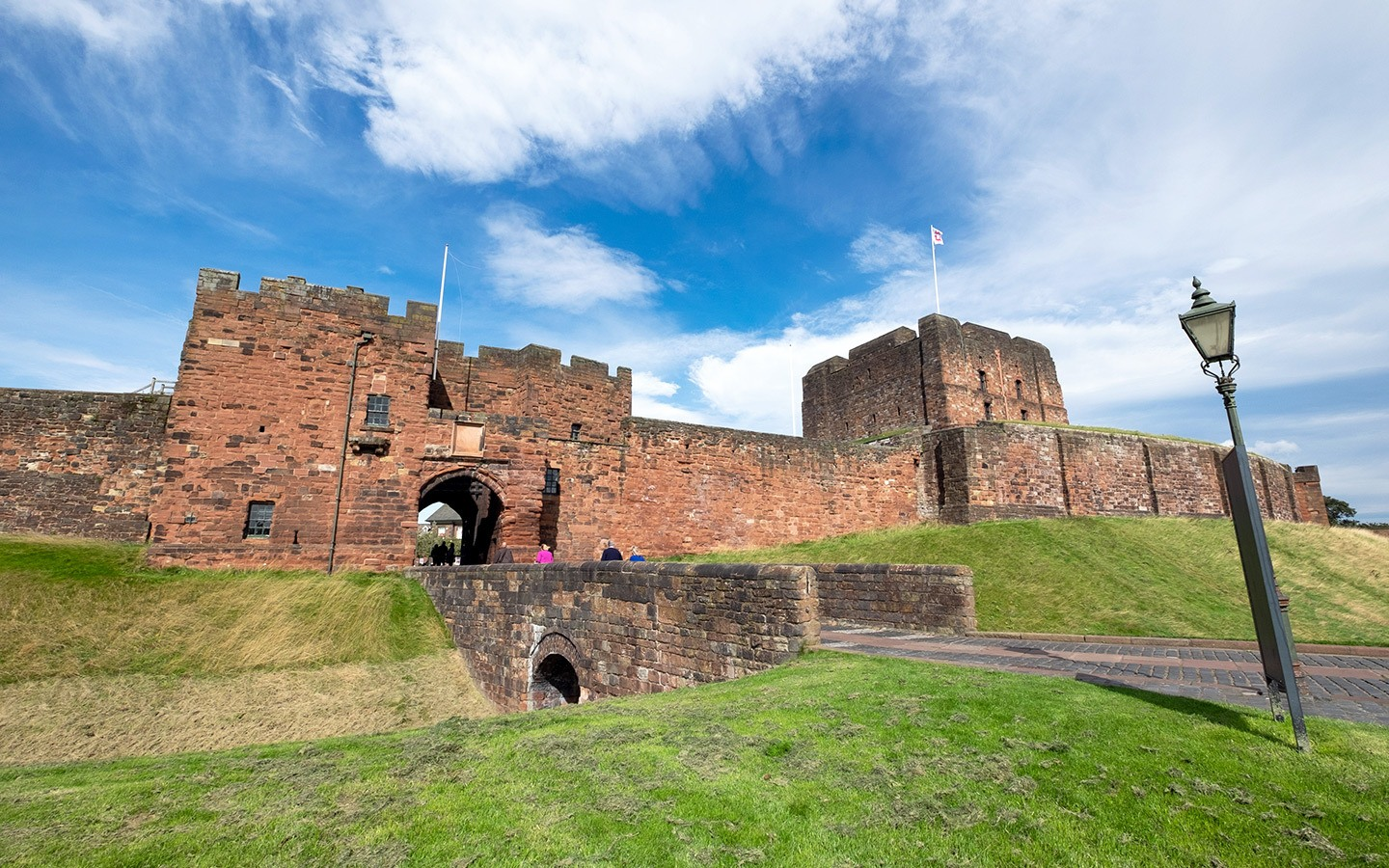 The gates of Carlisle Castle in north-west England