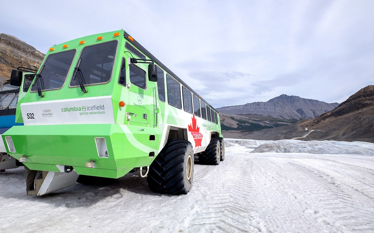 Ice explorer vehicle on the Columbia Icefields tour