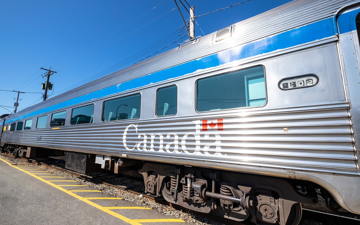 The Canadian VIA Rail service from Vancouver to Jasper