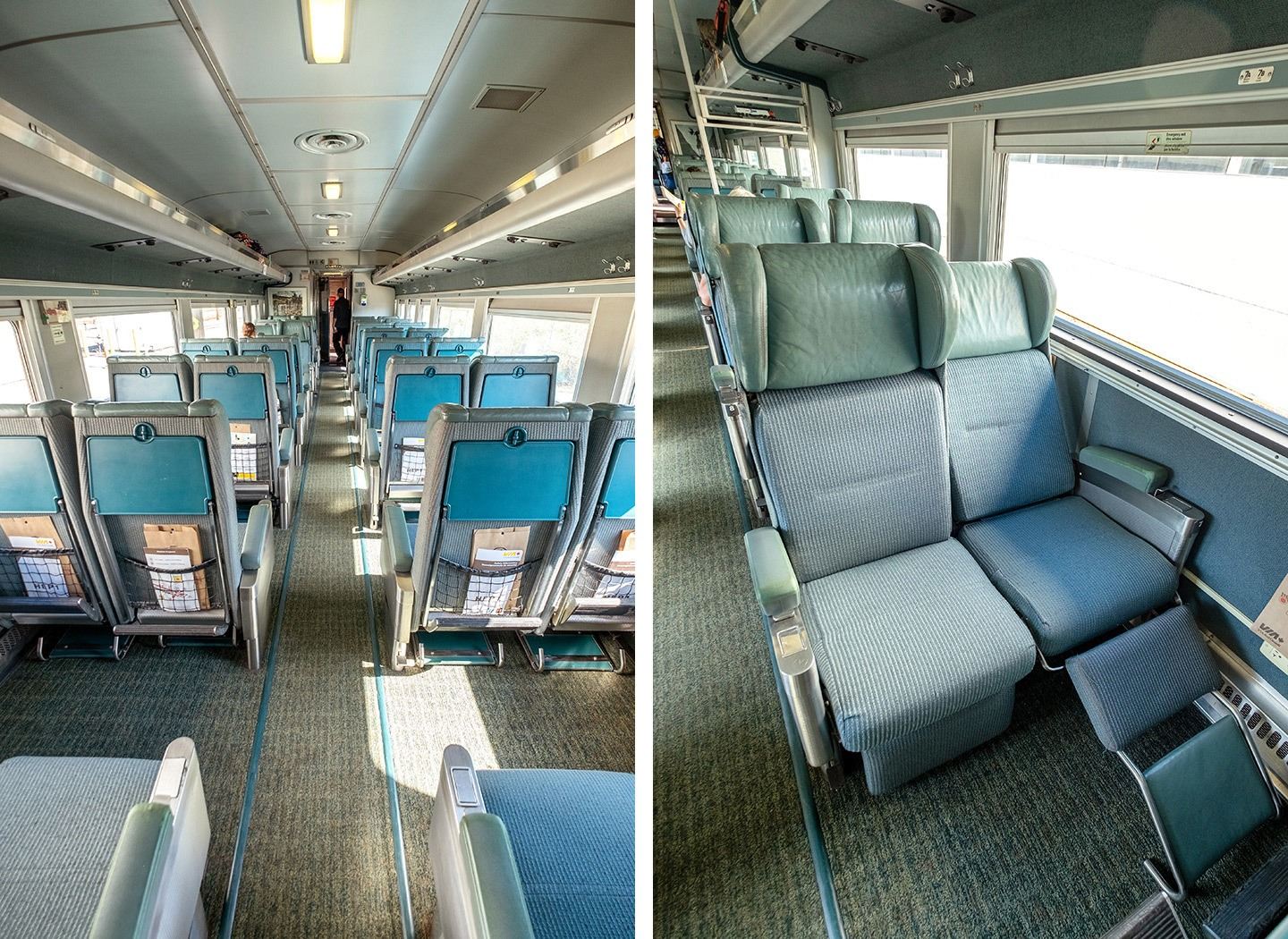VIA Rail's economy sleeper seats