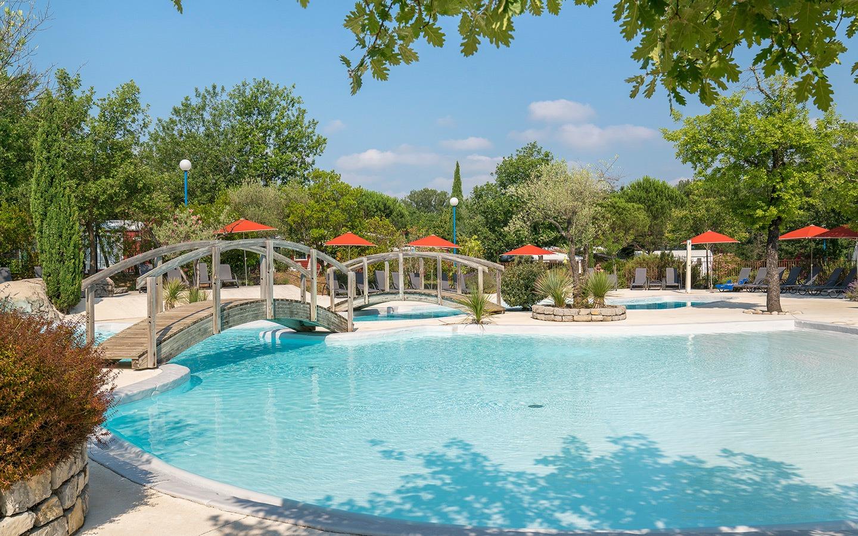Swimming pool at Yelloh! Village site
