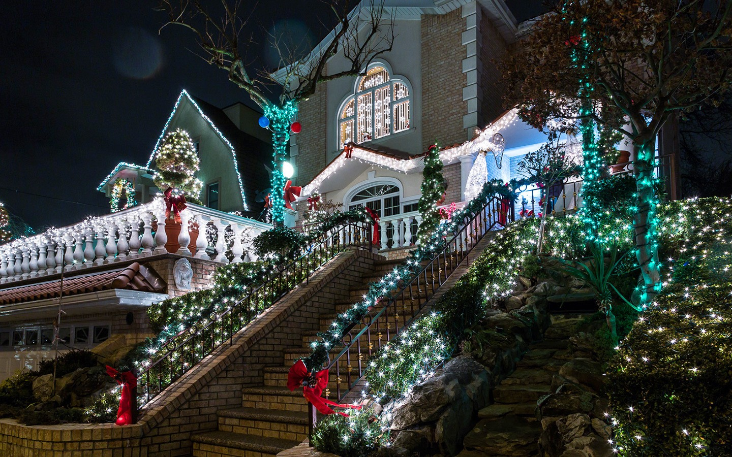 Christmas lights at Dyker Heights in Brooklyn