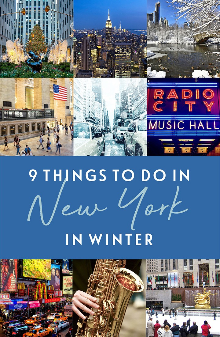 The best things to do in New York in winter – 9 great ideas from Christmas light displays to ice skating, jazz festivals to Christmas markets in NYC #NewYork #NYC #NewYorkwinter #Christmas