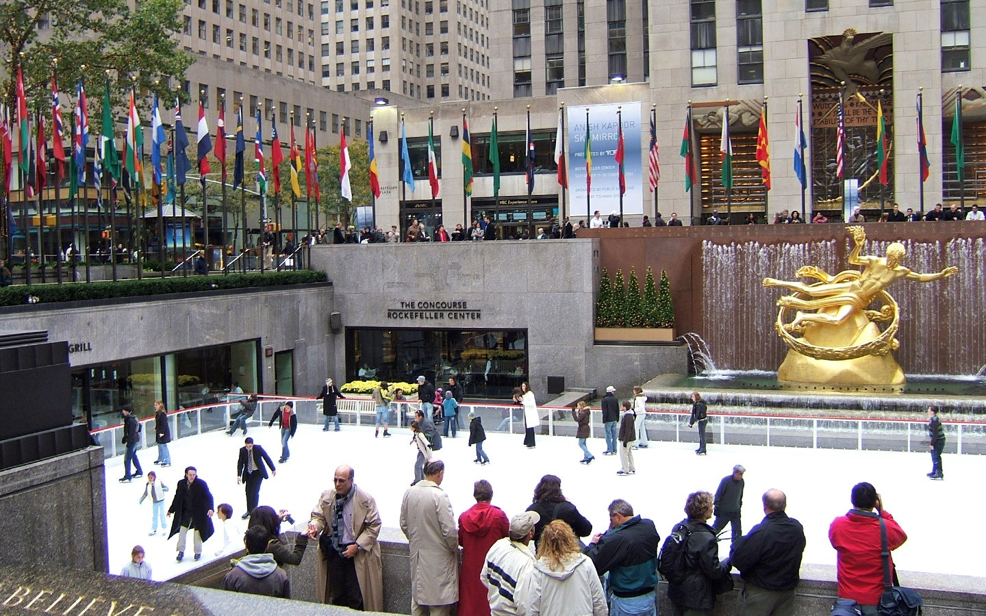 The Rockefeller Center in New York in winter