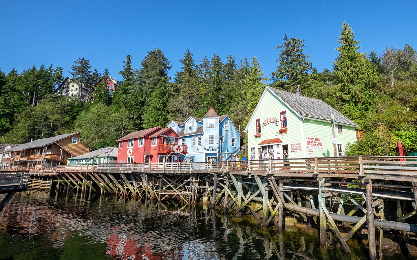 Colourful Ketchikan's Creek Street