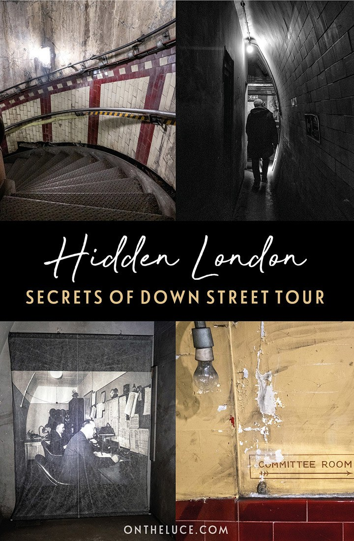 The hidden secrets of Down Street London underground station – uncovering the wartime stories of Churchill's secret station on a Hidden London underground tour by the London Transport Museum. #London #HiddenLondon #DownStreet #underground