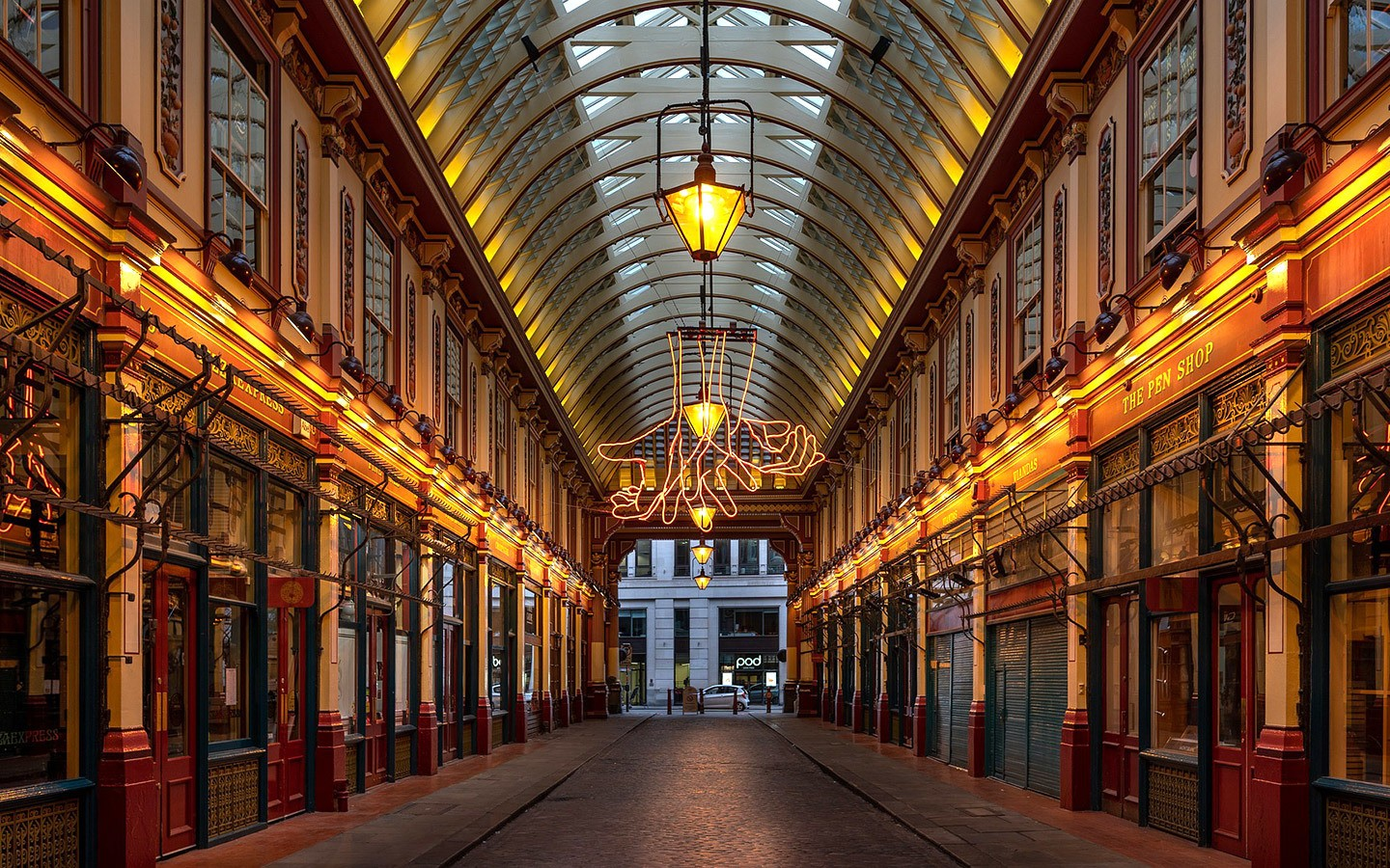 Leadenhall Victorian covered market in London