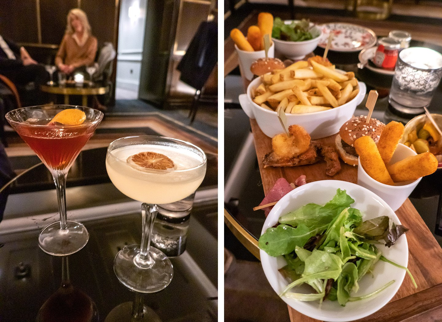 Cocktails at Flemings Hotel in Mayfair, London