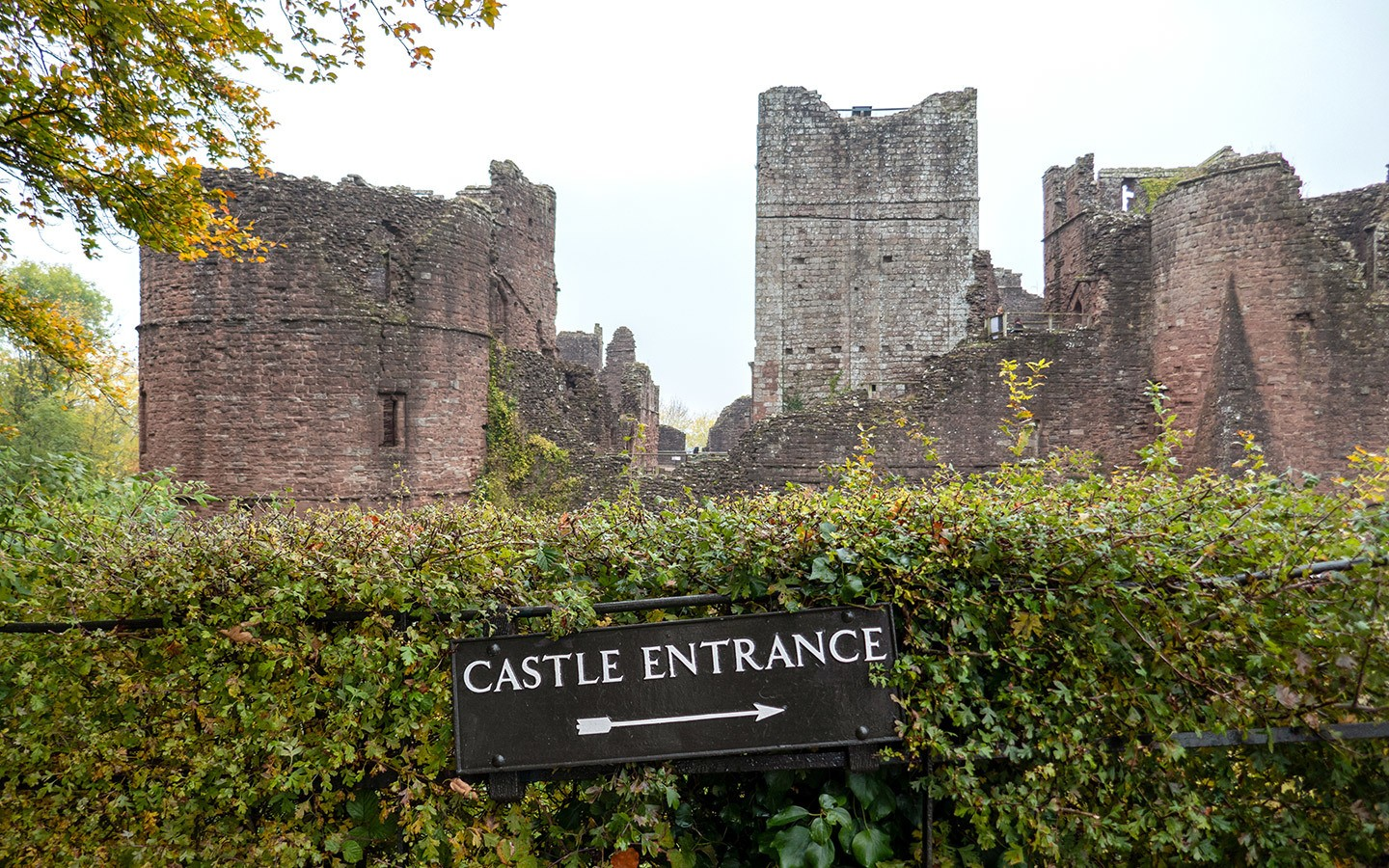 The medieval Goodrich Castle