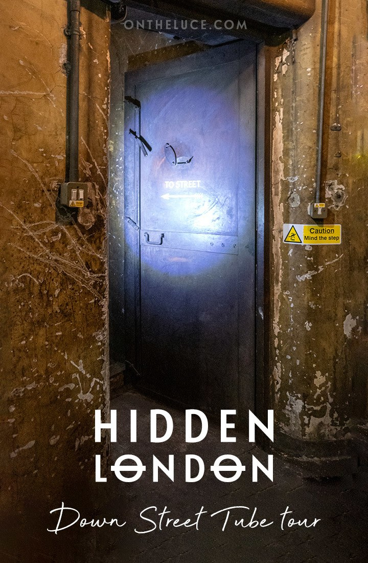 A Hidden London tour of Down Street Tube station: Uncovering the wartime stories of Churchill's secret station on an abandoned London underground tour. #London #HiddenLondon #DownStreet #underground