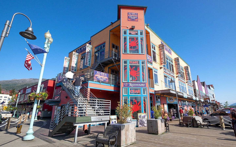 Buildings along the waterfront in Ketchikan Alaska