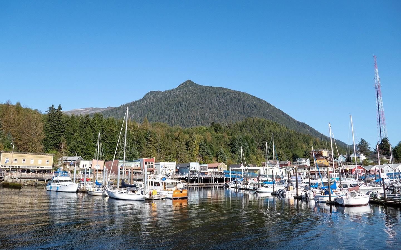 The harbour in front of Creek Street Ketchikan, Alaska