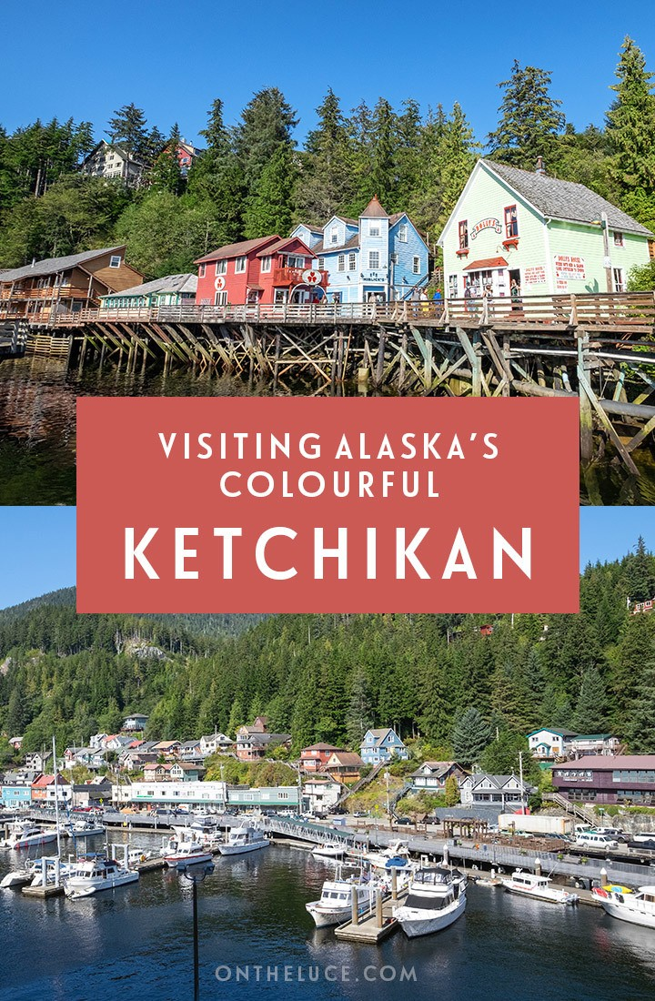 Discovering Ketchikan Alaska's historic Creek Street, a colourful, quirky neighbourhood with a few scandalous tales to tell on a Ketchikan cruise port stop #Ketchikan #Alaska #cruise #CreekStreet