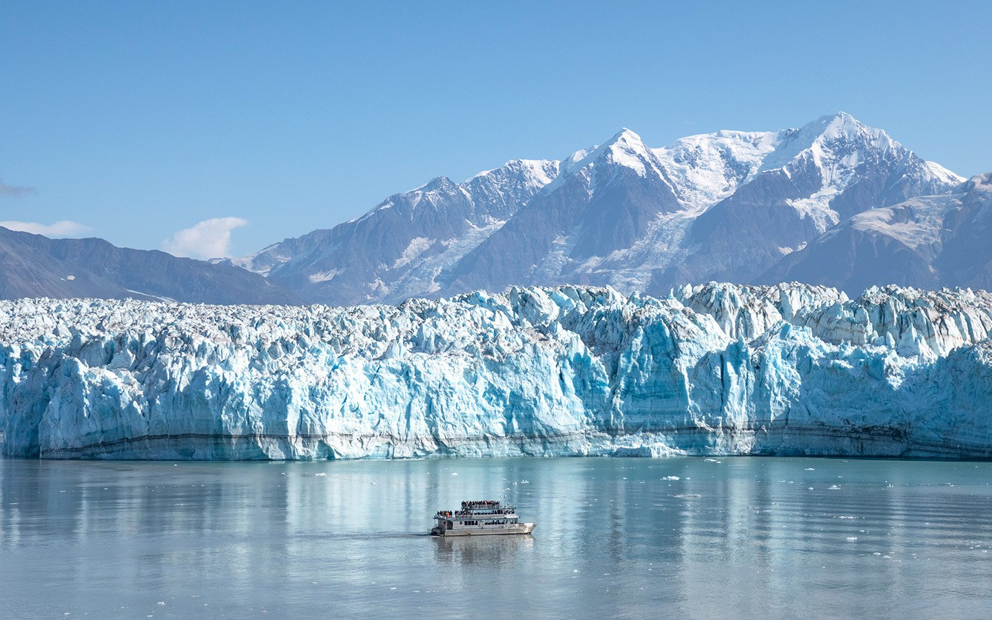 The Hubbard Glacier in Alaska