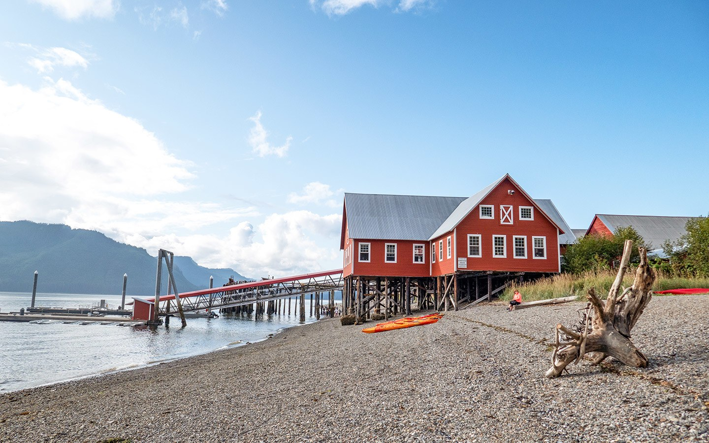 The 1930s salmon cannery at Icy Strait Point in Alaska